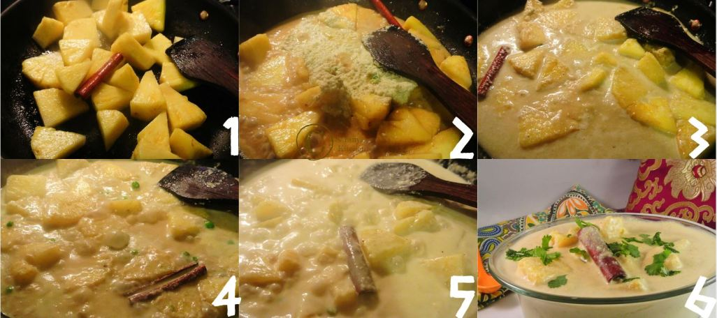 pineapple curry making